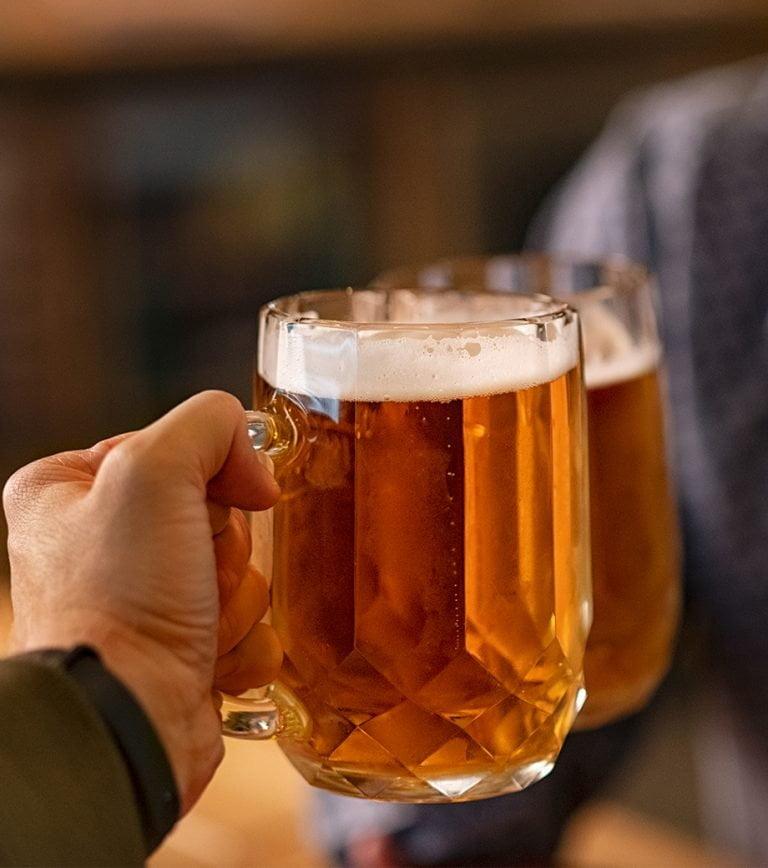 Enjoys a Beer