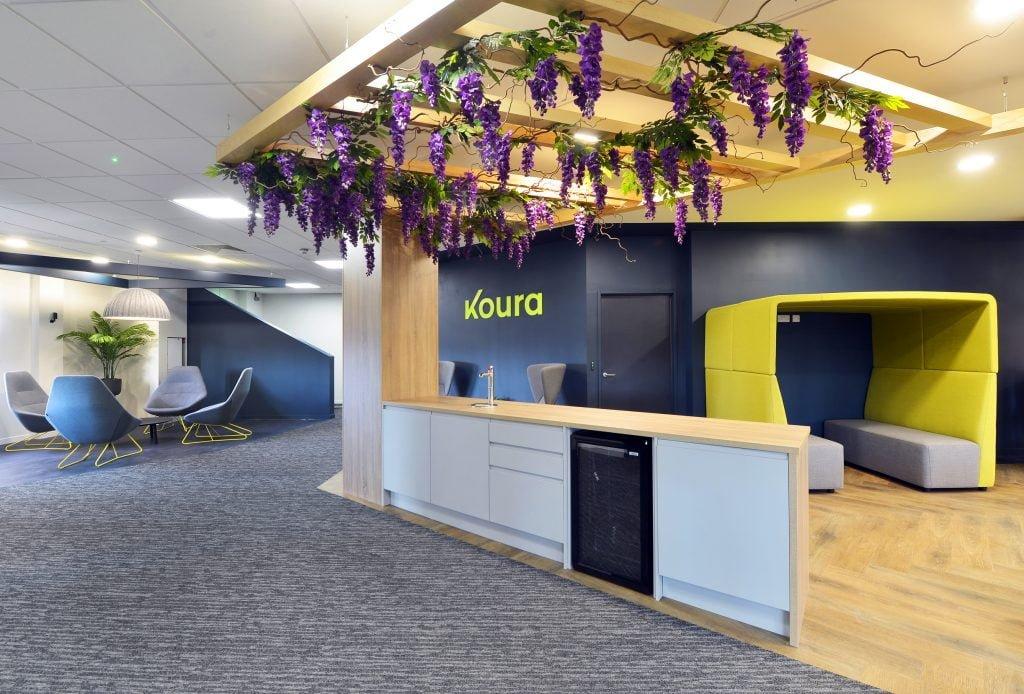 Koura use florals in their office design