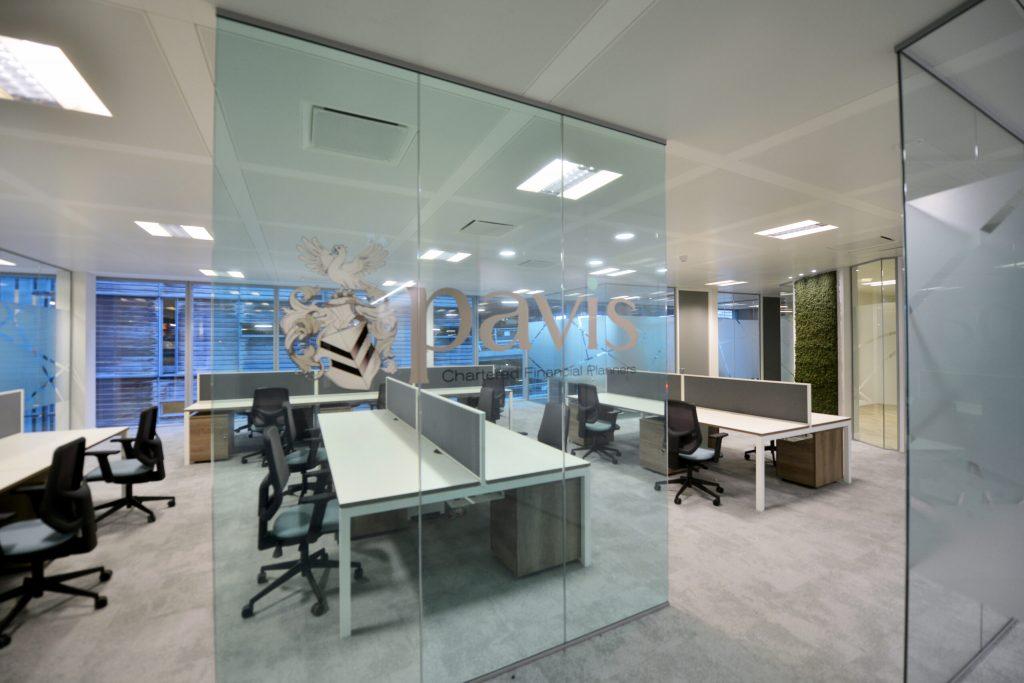 Perspex desk shields